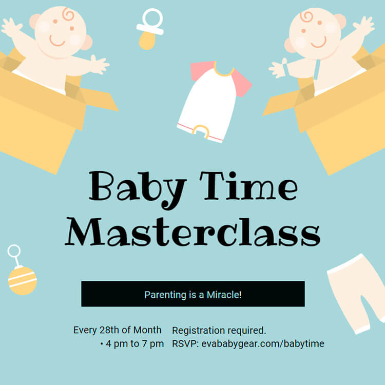 Baby Time Masterclass by Eva Baby Gear