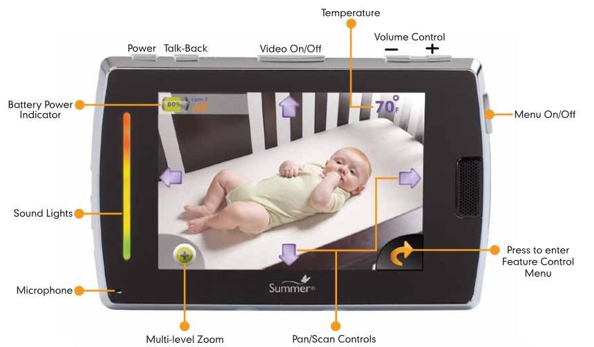 Baby Touch Boost Digital Color Video Monitor features