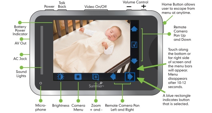 Baby Touch Digital Color Video Monitor feature