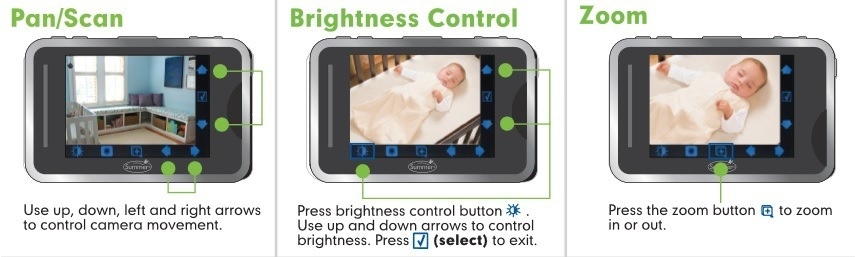 Baby Touch Digital Color Video Monitor features 2