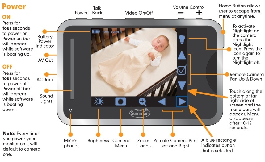 Baby Touch Plus Digital Color Video Monitor feature