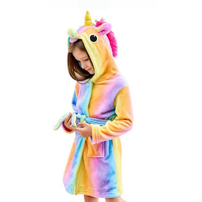 Doctor Unicorn Hooded Bathrobe