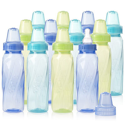 Evenflo Feeding Classic Tinted Plastic Standard Neck Bottles for Baby