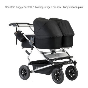 Mountain Buggy Carrycot Plus for Duet Double Stroller with Sun Hood