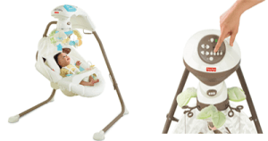 top quality Fisher-Price Snugabunny Cradle 'N Swing with smart technology
