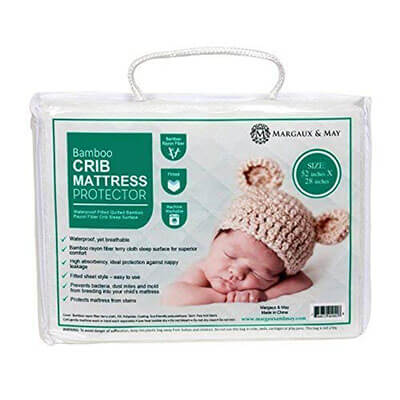 Waterproof Crib Mattress Protector Pad by Margaux & May