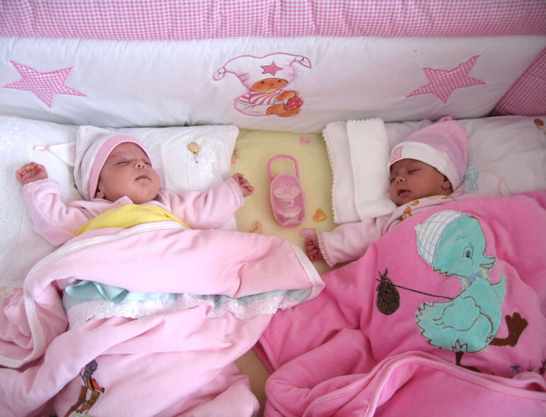 baby girl twins sleeping