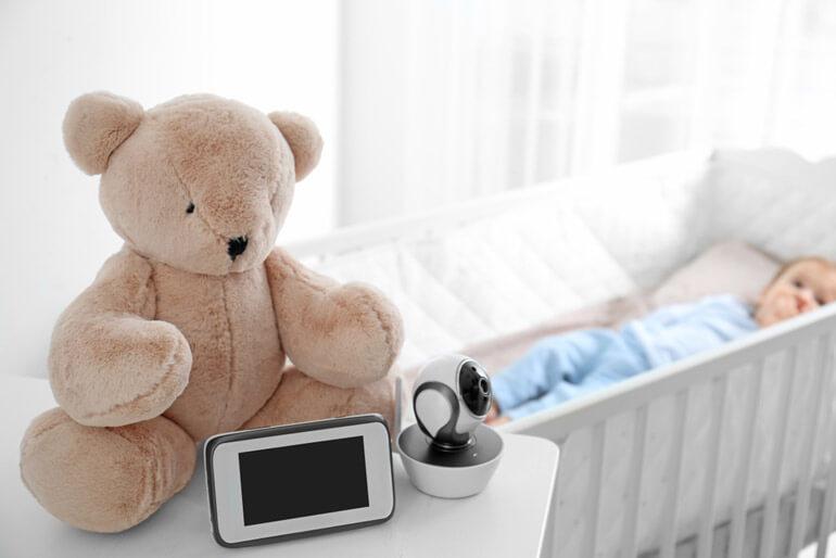 baby monitor near crib