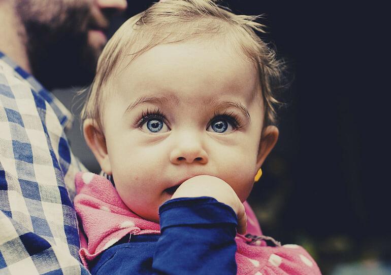 blue eyed girl watching